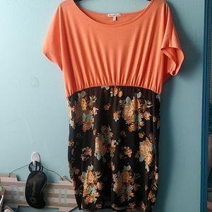 Floral stretchy bodycon dress